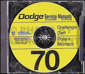 1970 Dodge Cd Shop Manual Challenger Dart Polara Monaco