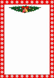 free christmas letter border templates