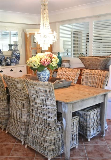 rattan kitchen table and chairs best 25 wicker dining chairs ideas on wicker