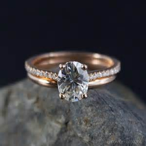 solitaire engagement ring with band forever brilliant oval solitaire engagement ring wedding set comfort fit wedding band