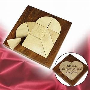 Liebesgeschenke Für Männer : mini holz puzzle herz tangram aus holz zur figurenbildung ~ Eleganceandgraceweddings.com Haus und Dekorationen