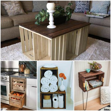 Decorating Ideas With Crates by 17 Brilliant Things To Do With Wooden Crates