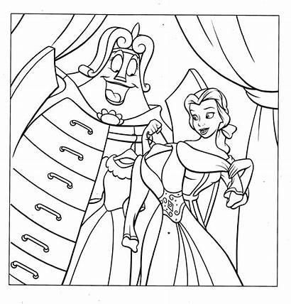 Coloring Princess Pages Belle Disney