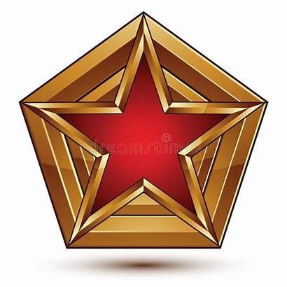 Symbol Stella Stern Simbolo Bollato Dorato Stilizzata