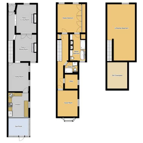 floor plans  long narrow houses house design row lot