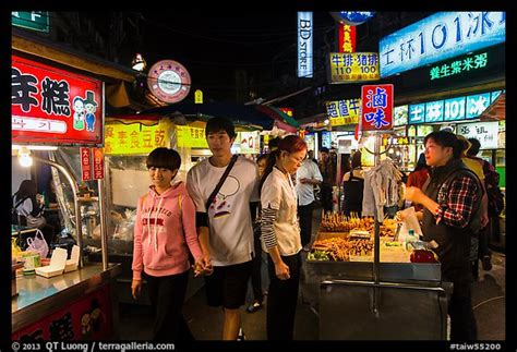 picturephoto street food area shilin night market