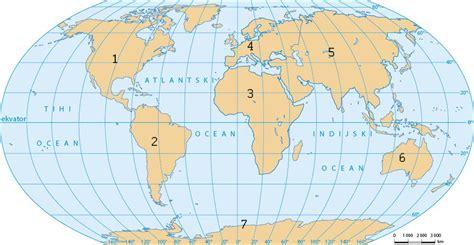 Spoji kontinente s njihovim nazivima.