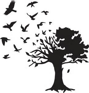 Tree with Birds Stencil