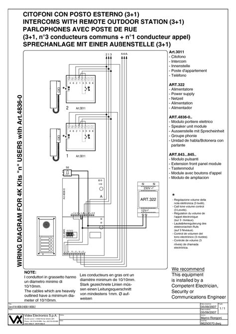 Videx Series Way Flush Mounted Audio
