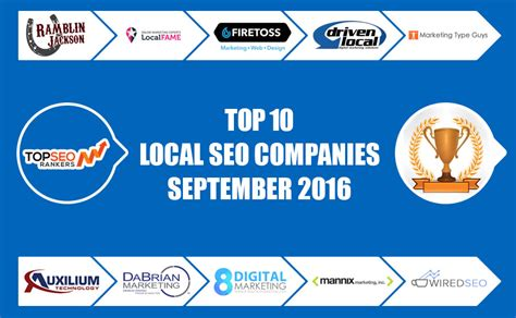 Local Seo Company by Top 10 Local Seo Agencies September 2016 Top Seo Rankers