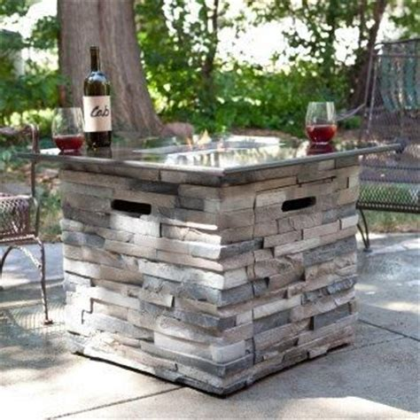 granite top propane pit patio yard inspiration