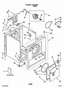 Kenmore 110 69422801 Dryer Drive Motor  W  Pulley