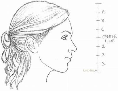 Draw Side Drawing Face Female Profile Realistic