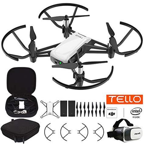 dji tello quadcopter drone  hd camera  vr powered technology fun flight bundle  carry