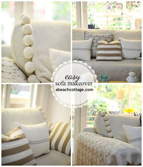 How To Cover Sofa by No Sew Sofa Makeover How To Cover A Sofa With Fabric