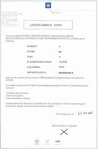 Attestation De Vente Voiture : importation reception a titre isole rti ~ Gottalentnigeria.com Avis de Voitures