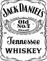Coloring Pages Whisky Jack Daniels Template Whiskey Colouring sketch template