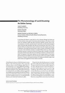 Research paper on lucid dreaming for 8x10 resume paper
