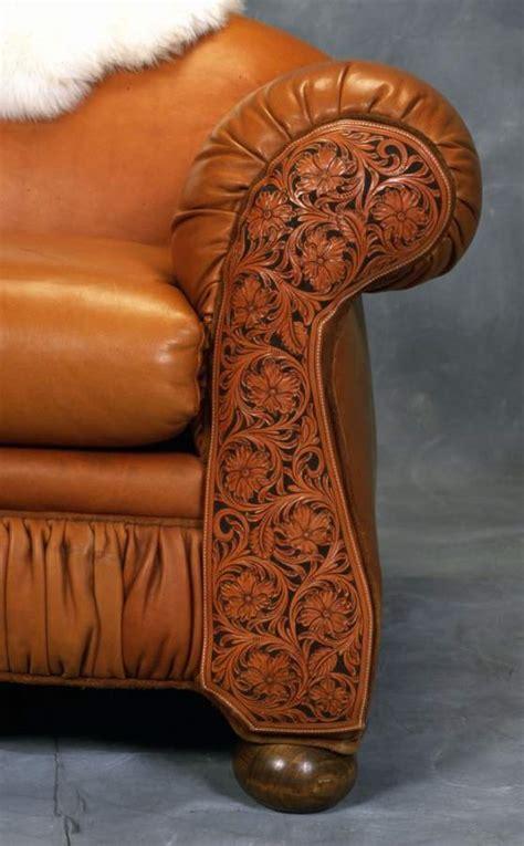 tooled leather sofa western sofa rusticartistrycom