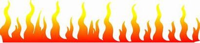 Fire Clipart Strip Border Clip Orange Flame