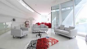 Modern white living room HD wallpaper