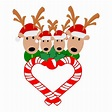 SVG Reindeer Family Candy Cane Heart Reindeer Family ...