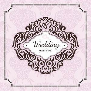 vintage floral frame for wedding invitation royalty free With wedding invitations with flowers vintage frame
