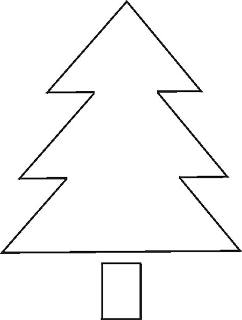 7 best images of large printable christmas tree patterns christmas tree outline pattern