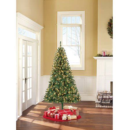 holiday time pre lit 65 madison pine white artificial christmas tree clear lights time pre lit 6 5 pine artificial