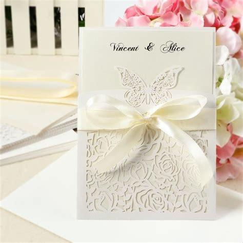 carte d invitation mariage 10x carte d invitation pour mariage dentenlle papillon
