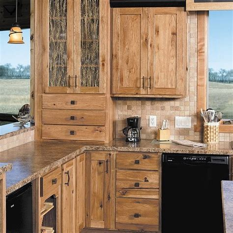 rustic wood kitchen cabinets rustic hickory cabinets home tedxumkc decoration