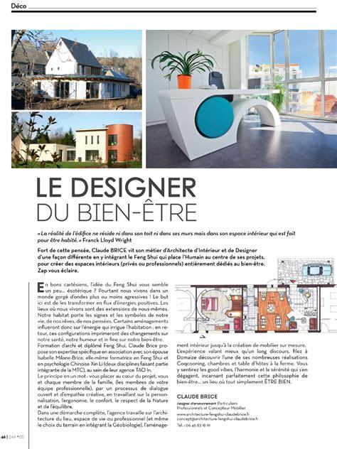 Article De Presse Zap Sur L'architecte Feng Shui Claude Brice