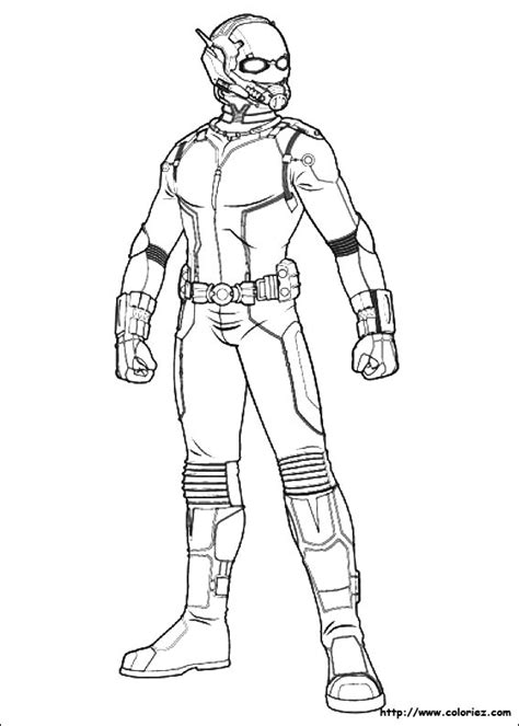 ant man superheroes printable coloring pages