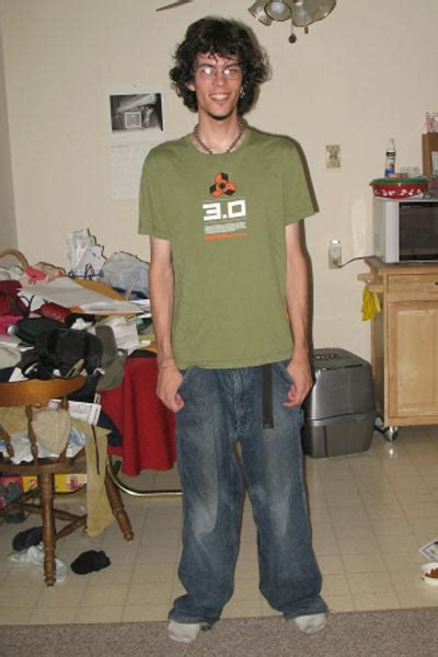 """Photographic HeightWeight Chart  6' 2"""", 130 lbs, BMI17"""