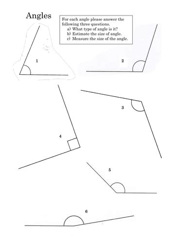 Measuring Angles With A Protractor Worksheet Tes Homeshealthinfo