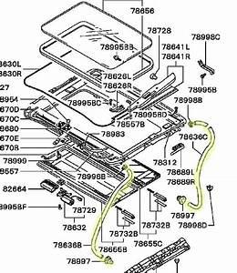 Sunroof Parts Diagram  U0026 Genuine Mercedes-benz
