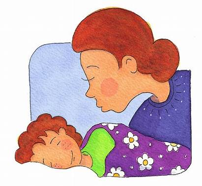 Kiss Goodnight Clipart Bedtime Kissing Night Mother