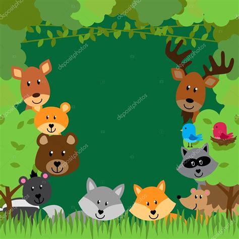 foto de Fundo de vetor de animais da floresta Vetor de Stock