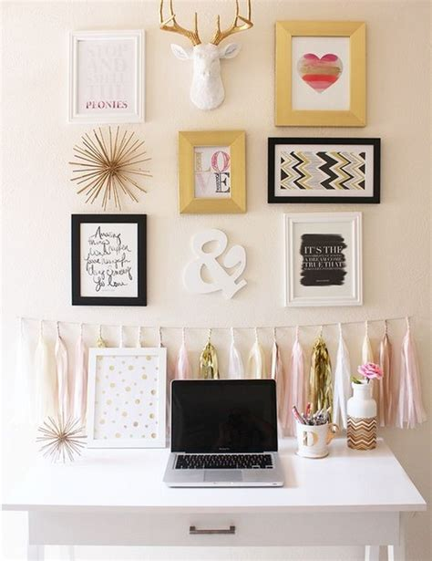 Stupell home decor pink and gold glam hearts spray paint drip wall art. How to Arrange Your Gallery Wall - 20 pics | Interior For Life