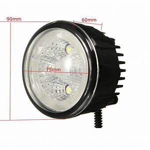 18w 6led Fog Light Lamps Assy With Led Halo Rings For