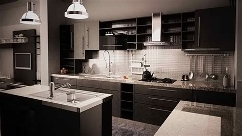 black kitchen tiles design 15 bold and black kitchen designs home design lover 4723