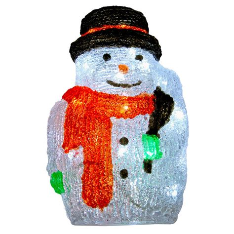 light up snowman indoor christmas acrylic snowman with broom led light up