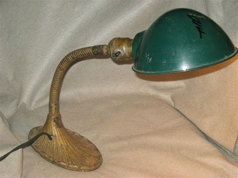 1940s brass style electric wall sconce l w enamel shade works ebay