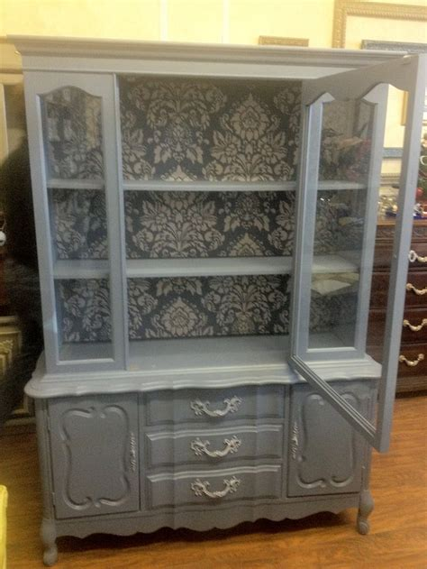 china cabinet painted  chalk paint  color
