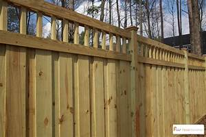 Wood Privacy Fence with Custom Lattice - by FenceWorkshop