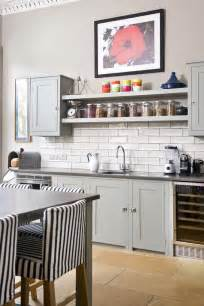 kitchen glass canisters open shelving vs wall units kitchen sourcebook