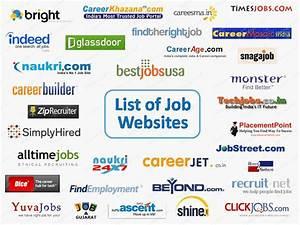 websites list With career websites