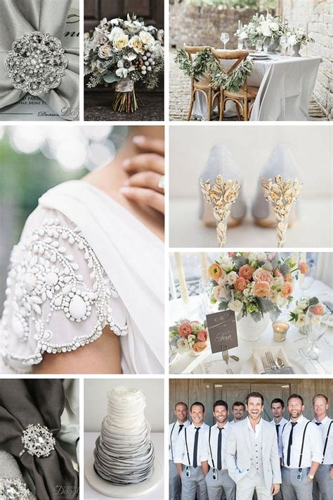 Gray Wedding Theme Color Inspiration Totally Dazzled