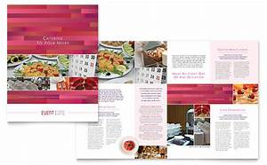 corporate event planner caterer brochure template design With event pamphlet template