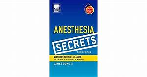 Anesthesia Secrets  With Student Consult Online Access  By